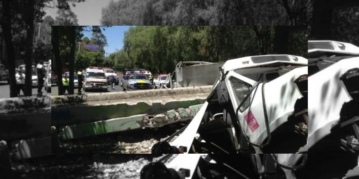 Sismo en México: Puente cae sobre un autobús y lo destruye