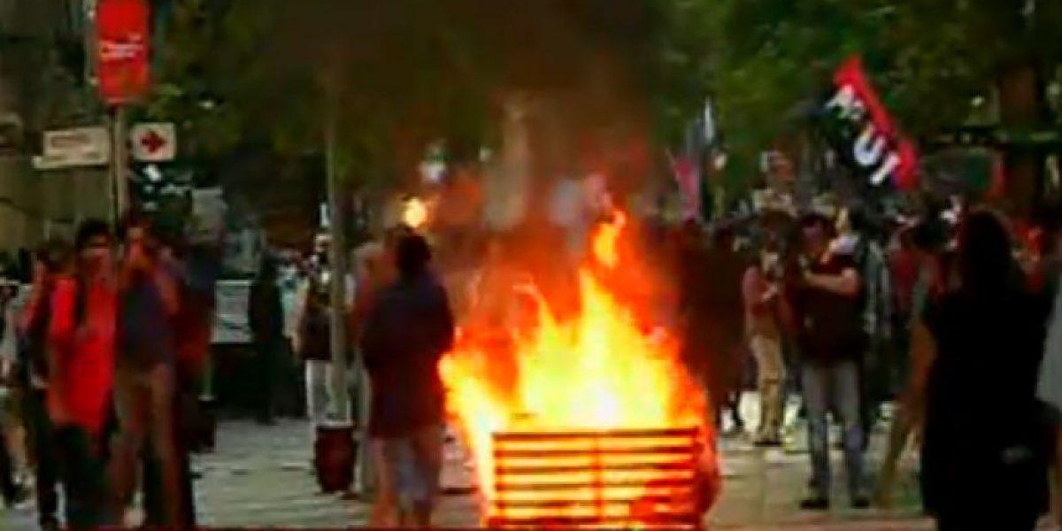 Marcha por Aysén: Paseo Ahumada fue escenario de violentos enfrentamientos