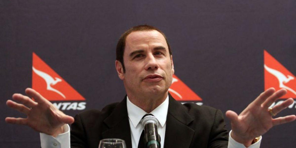 [FOTOS] John Travolta en Chile promociona nueva línea aérea