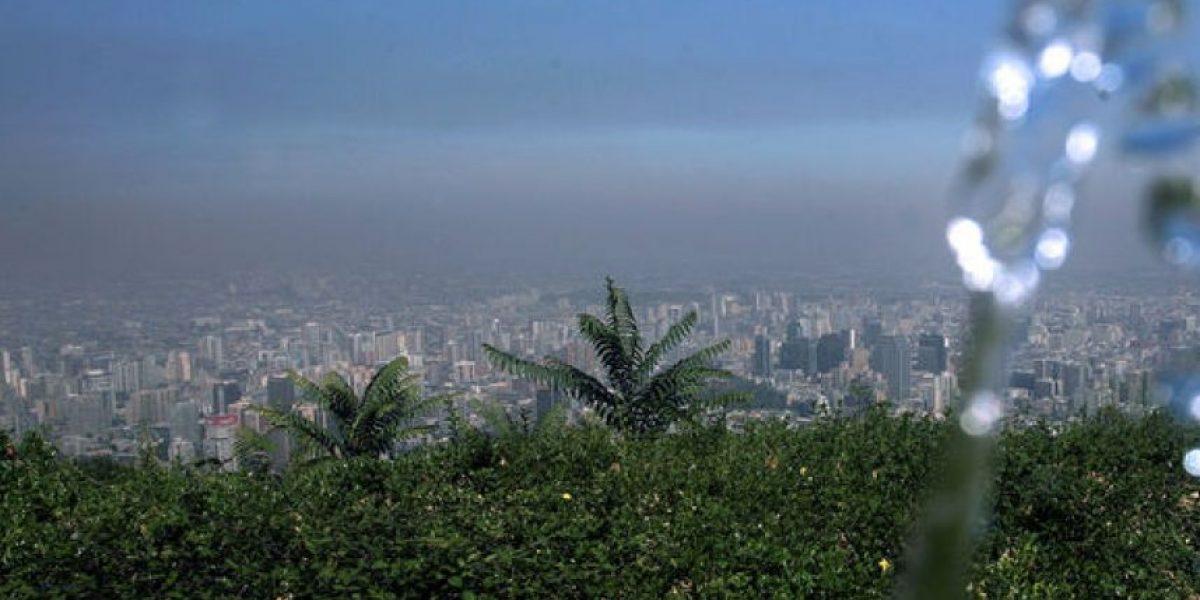 [FOTOS] Así de contaminado se ve Santiago