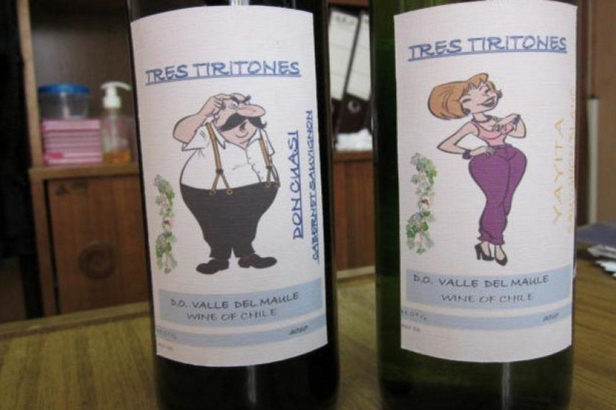 """No podía faltar el vino """"Tres tiritones"""" otro clásico en la internacional revista de humor. . Imagen Por:"""