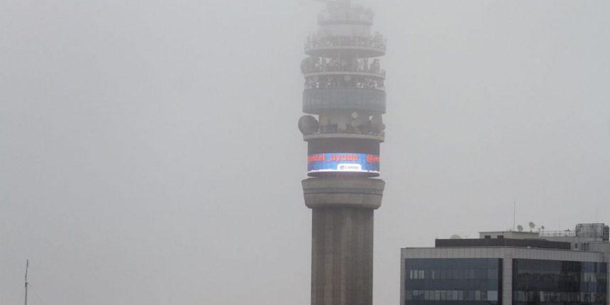[FOTOS] La niebla se dejó caer este Viernes 13 en Santiago