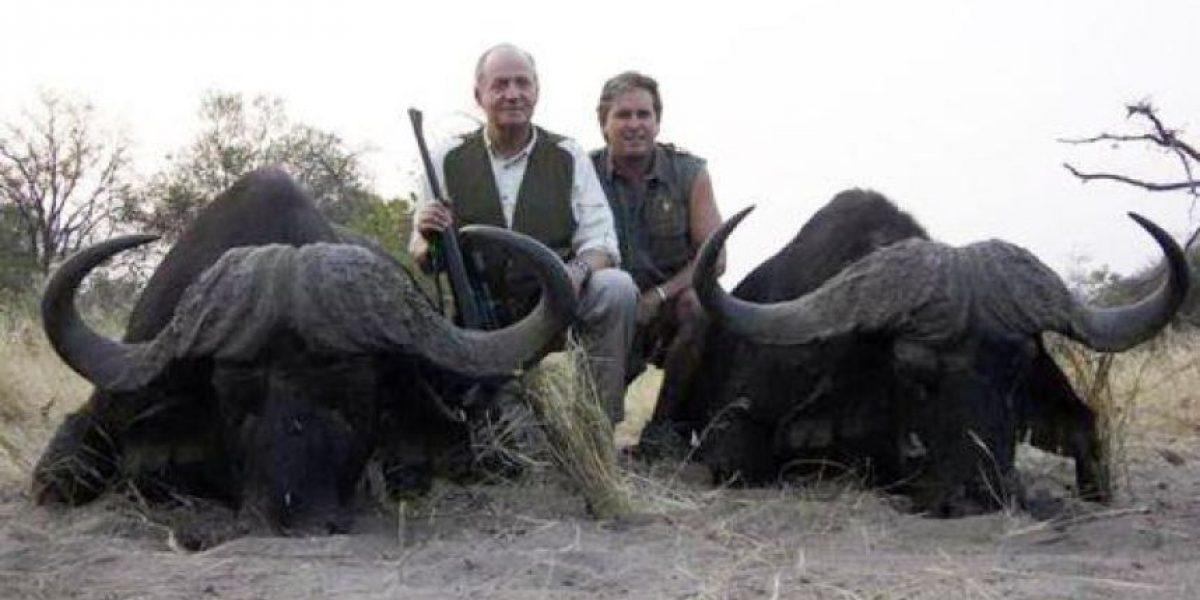 Más polémica: Imagen muestra al Rey de España tras cazar unos búfalos