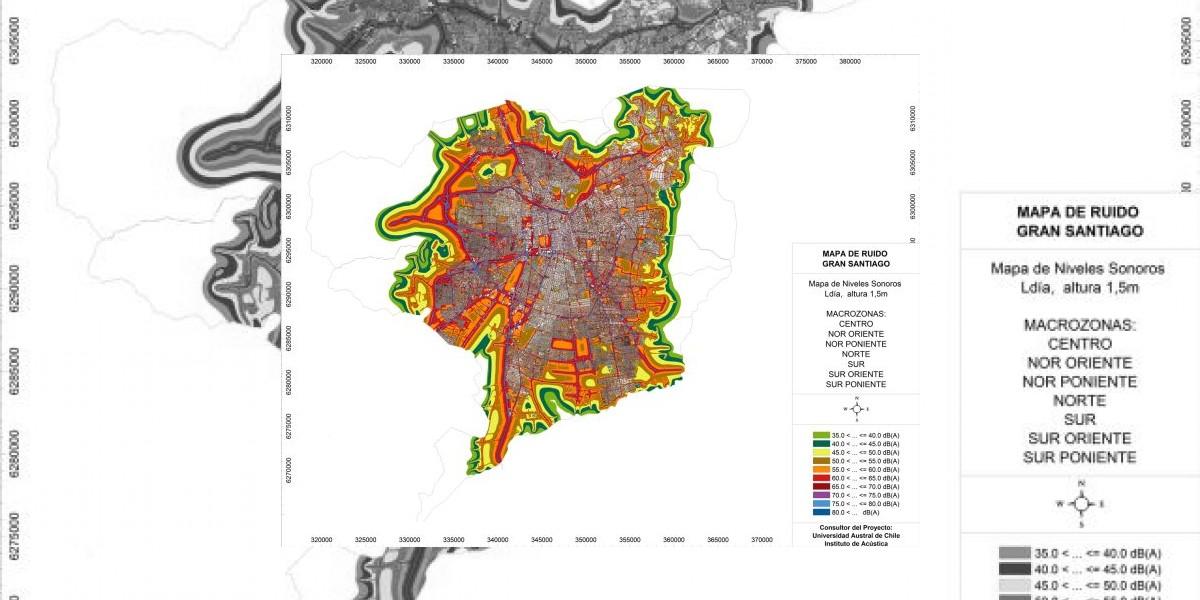 Lanzan mapa de los puntos más ruidosos en Santiago