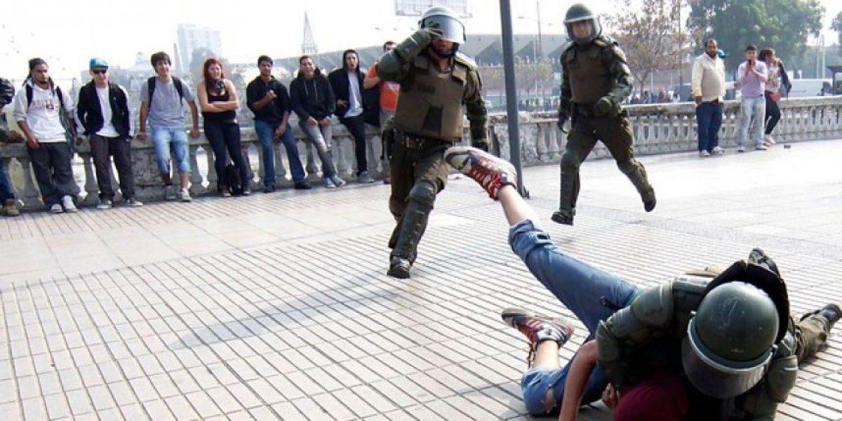 [FOTOS] El lado feo: Así fueron los incidentes tras la marcha de estudiantes