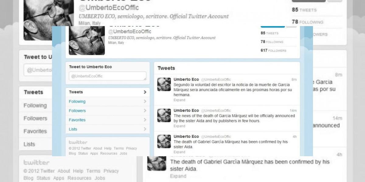 Falsa muerte de García Márquez causa revuelo en las redes sociales