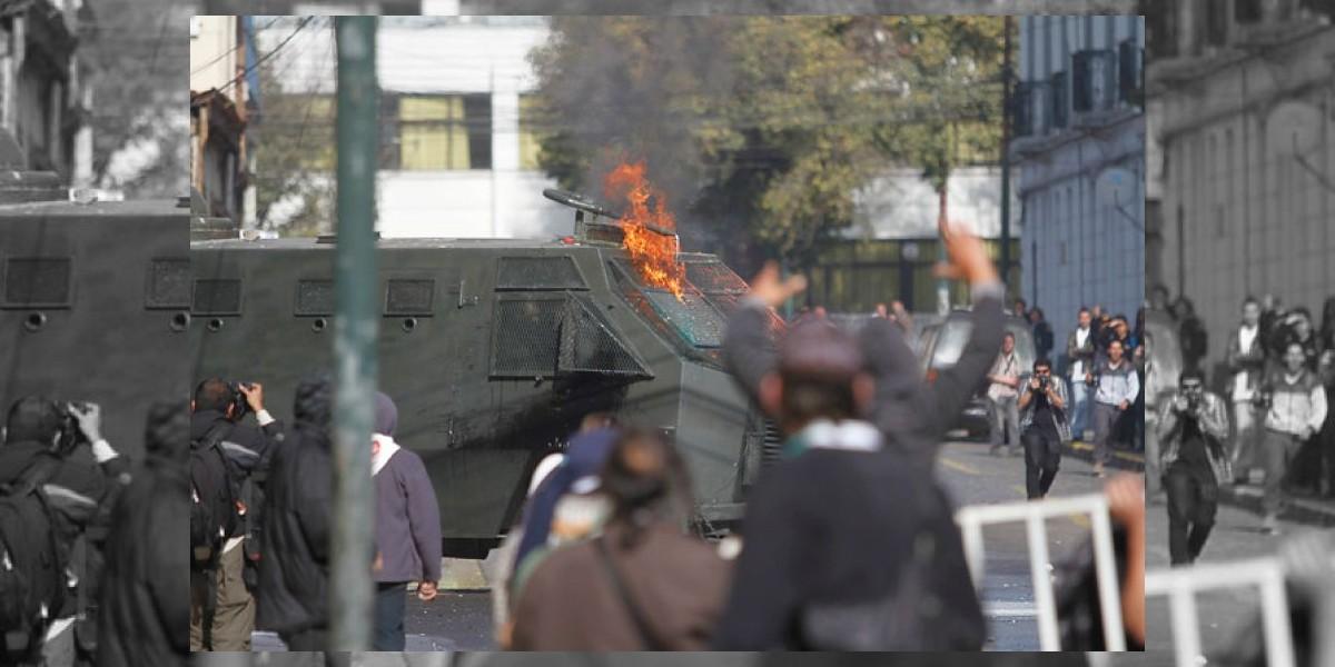 Cerca de veinte detenidos hasta el momento dejan incidentes en Valparaíso