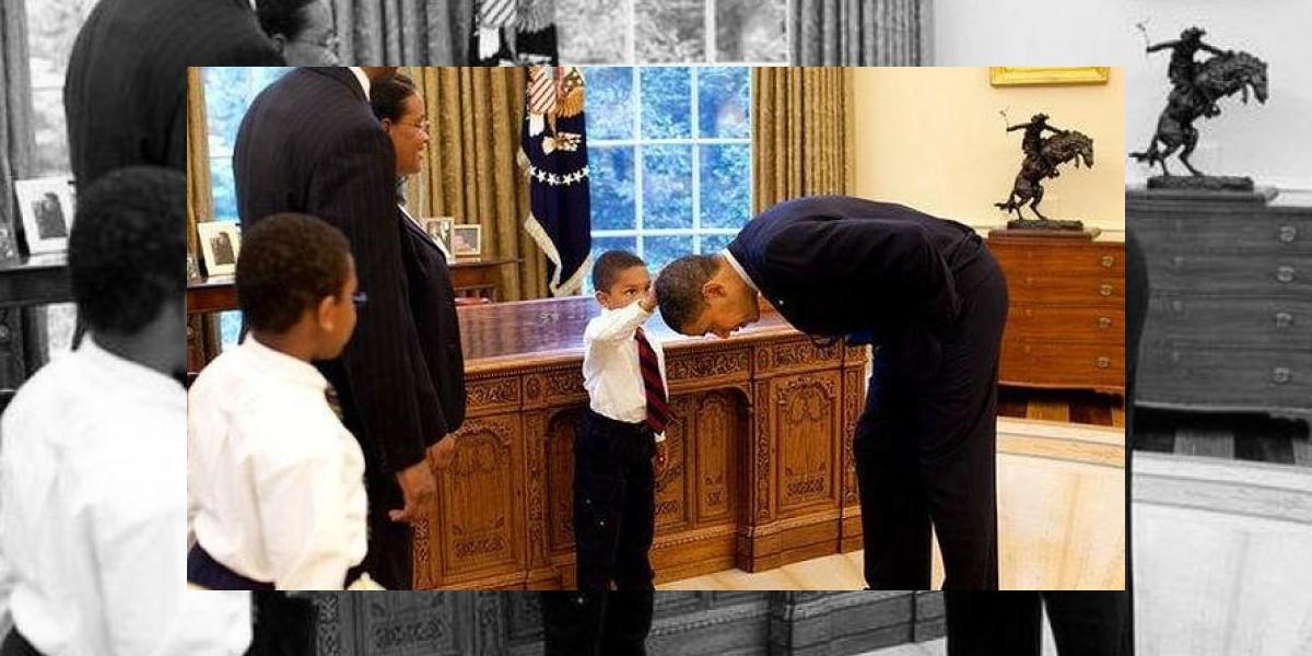 Esta tierna foto es la más apreciada por la Casa Blanca