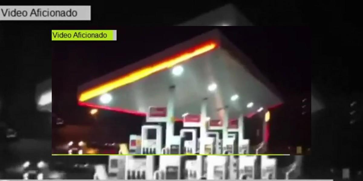 [VIDEO] Captan momento del colapso de techo de bencinera en Reñaca