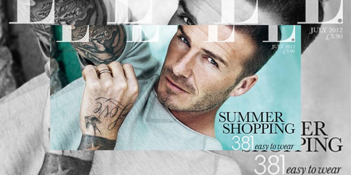 Beckham en portada emblemática de revista ELLE