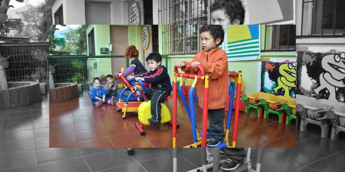 Jardines infantiles tendrán máquinas de ejercicio para incentivar la actividad física en los niños