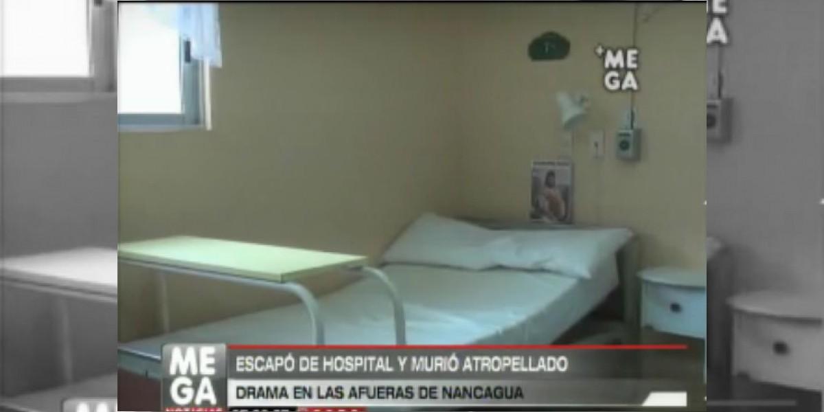 Trágico desenlace: Hombre murió atropellado minutos después de escapar del hospital