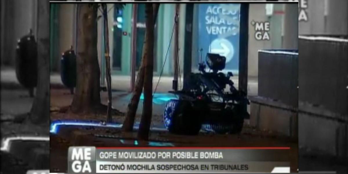 Mochila sospechosa fuera de tribunales generó un falso aviso de bomba