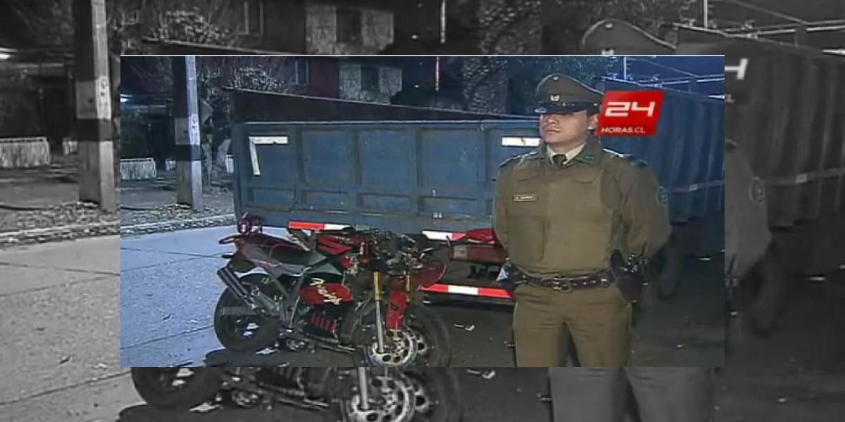 Joven motorista perdió la vida tras chocar contra un camión en Conchalí