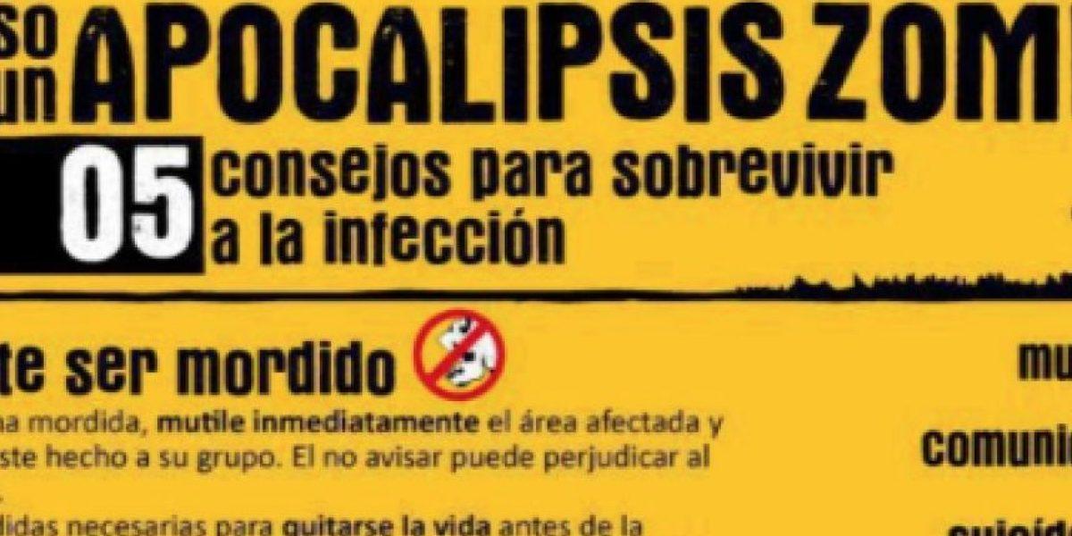 Humor: Aquí tenemos el manual para enfrentar el Apocalisis Zombie