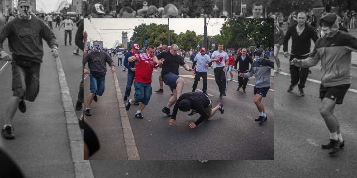 [VIDEO] Rusos y polacos se enfrascan en brutal pelea tras partido de la Euro 2012