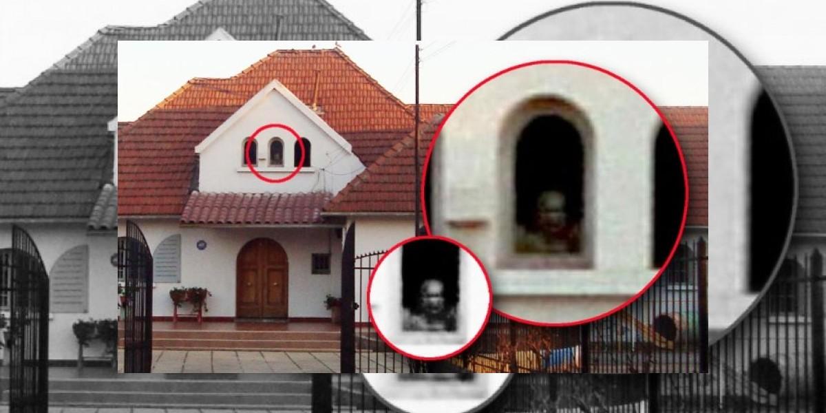 [FOTO] Figura fantasmal se asoma en antigua casa de La Florida