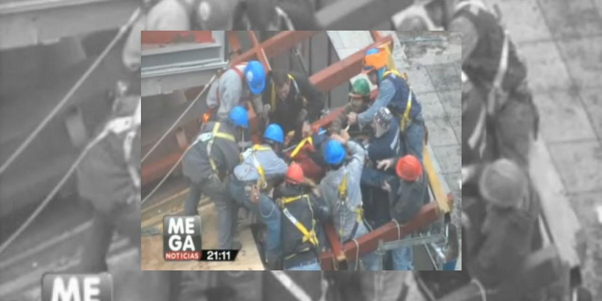 [VIDEO] Obrero muere al caer del piso 16 de edificio en construcción