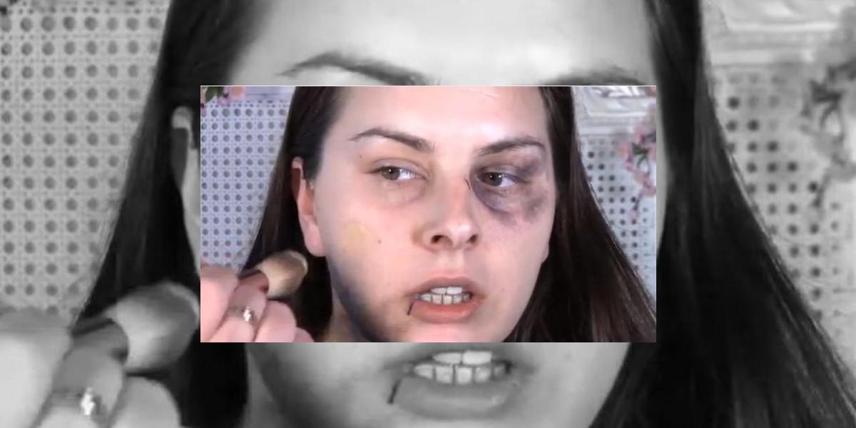 Polémico tutorial muestra cómo maquillarse tras ser golpeada