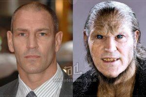 Dave Legeno, actor y experto en artes marciales, interpreta al salvaje hombre-lobo Fenrir Greyback en la saga de Harry Potter. Fuente:. Imagen Por: