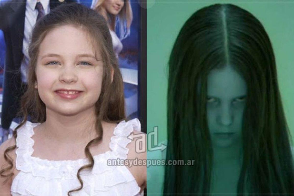 Daveigh Chase con sólo 12 años de edad encarnó en 2002 el personaje de Samara Morgan en la película El Aro. Imagen Por: