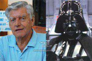 David Prowse es un ex-levantador de pesas y actor británico. Obtuvo el papel del villano Darth Vader en 1977 gracias a sus casi 2 mts de altura y 118 kg. Imagen Por: