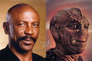 """Louis Gossett, Jr. interpretó en 1985 al piloto extraterrestre Jeriba """"Jerry"""" Shigan en el film Enemigo Mío. Imagen Por:"""