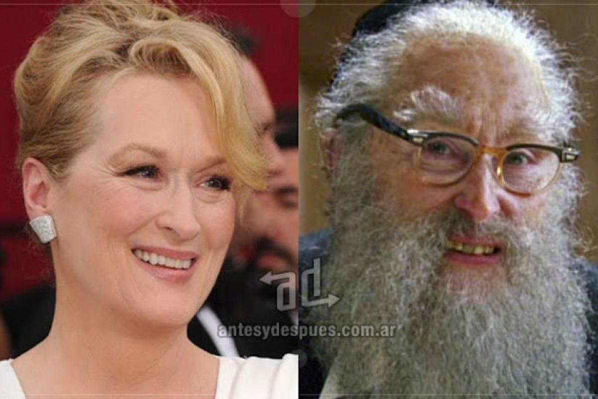 Meryl Streep como el rabino.. Imagen Por: