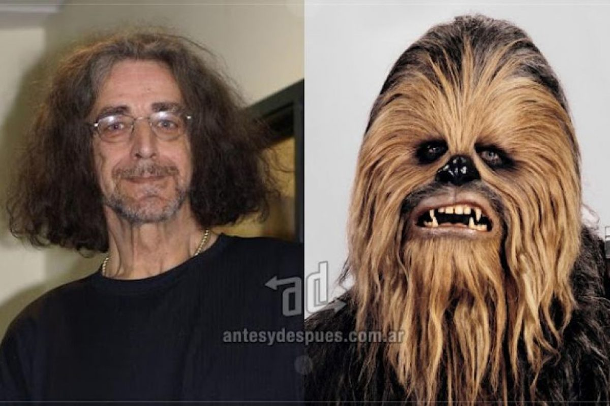 Peter Mayhew, el actor británico de 2,20mts de altura da vida a Chewbacca desde 1977 en los episodios III al VI de Star Wars.. Imagen Por: