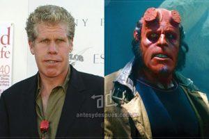 Ron Perlman como Hellboy.. Imagen Por: