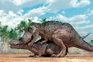 Así era el acto sexual en el caso del Tiranosaurio Rex. Foto:Daily Mail. Imagen Por: