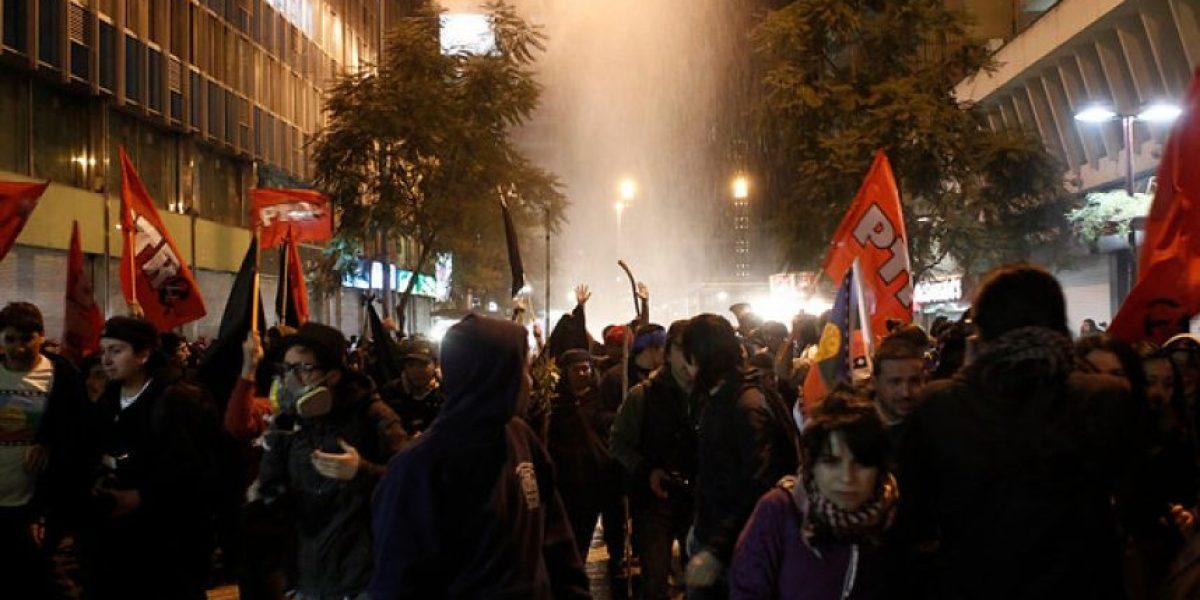 [FOTOS] Marcha en apoyo al pueblo mapuche termina con incidentes en Alameda