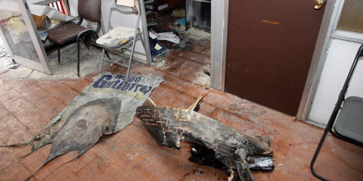 [FOTOS] Oficina del diputado Hugo Gutiérrez sufre atentado incendiario