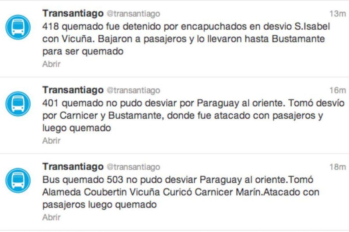 Foto:Twitter @transantiago. Imagen Por: