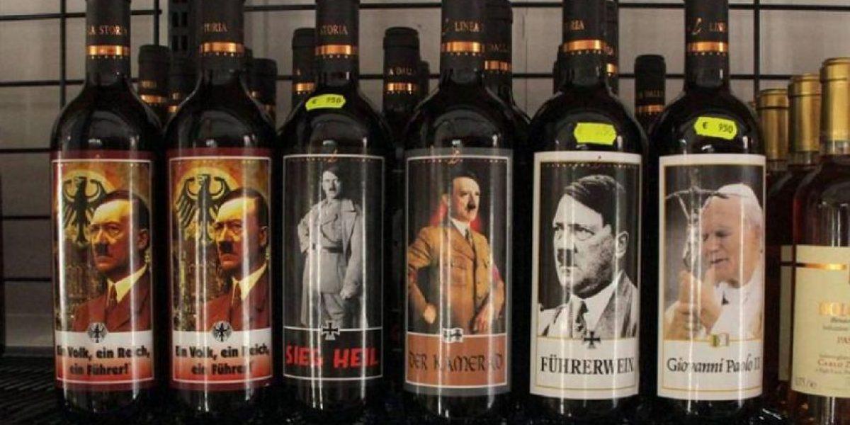 En Italia venden vino con etiquetas de la cara de Hitler