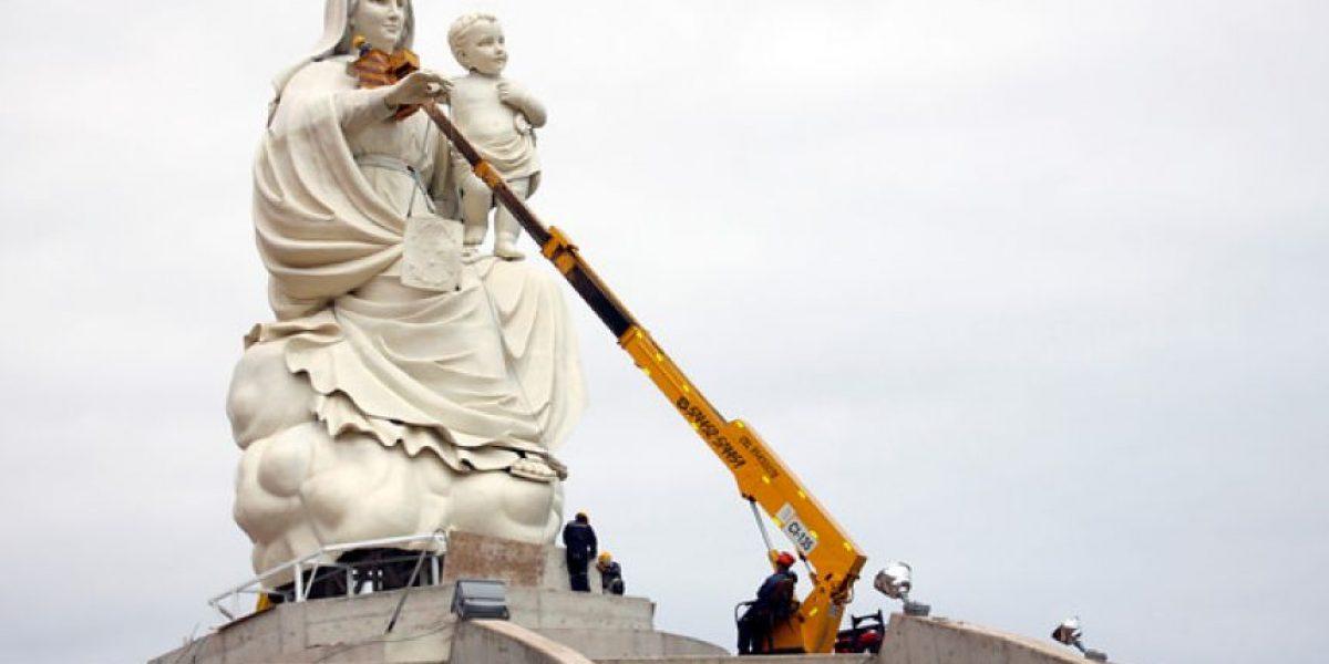 [FOTOS] Todo listo para la inauguración de la Virgen más grande de Chile