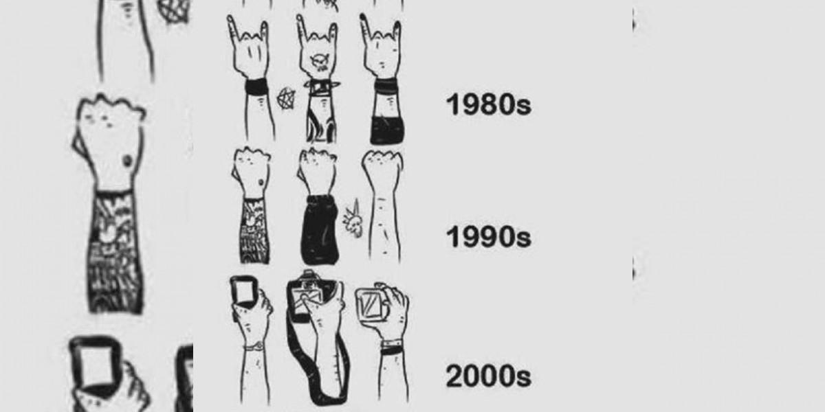 La evolución de los gestos del público en los conciertos a través de los años