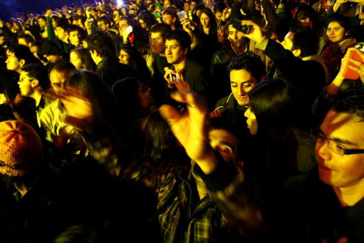 El Dj de música electrónica se presentó este sábado ante un Espacio Riesco repleto. Foto:Agencia UNO. Imagen Por: