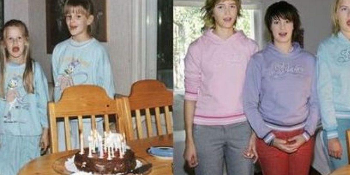 [Galería] Cuatro hermanas se toman la misma foto años después