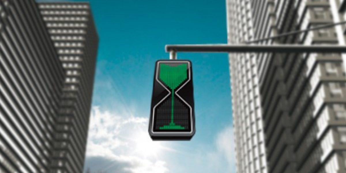 Este semáforo espera que pases para ponerse en rojo