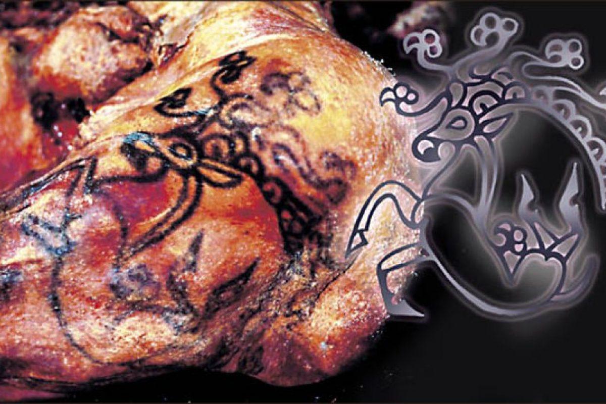 Tatuaje hallado en el hombro de la Princesa Ukok. Foto:siberiantimes.com. Imagen Por: