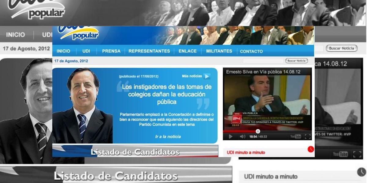 Sujeto hackeó sitio de la UDI y filtró datos personales de políticos