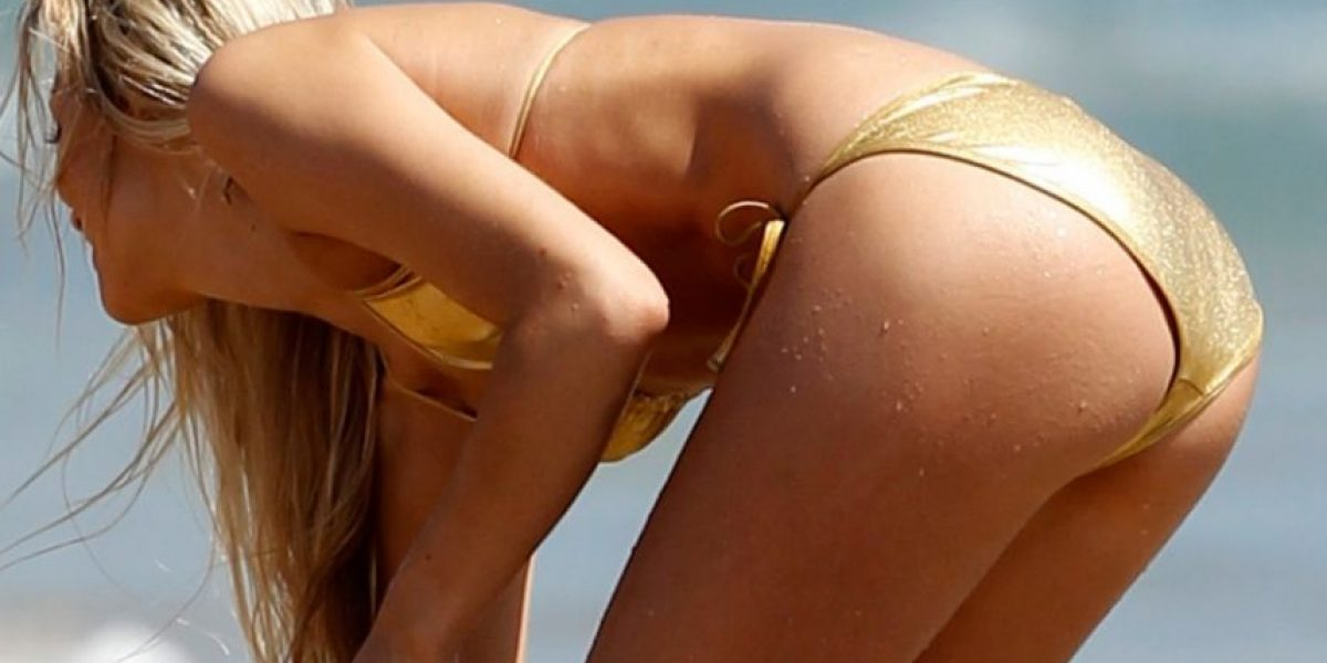 [FOTOS] La espectacular novia de Michael Phelps brilla con este sexy bikini dorado