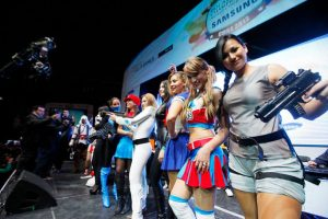 """Con un centenar de fanáticos de los videojuegos en línea, y bellas chicas cosplay, se llevó a cabo el Panamericano Champion Chips """"World Cyber Games"""", donde se realizaron batallas online entre los mejores gamers del mundo. Foto:Agencia Uno. Imagen Por:"""