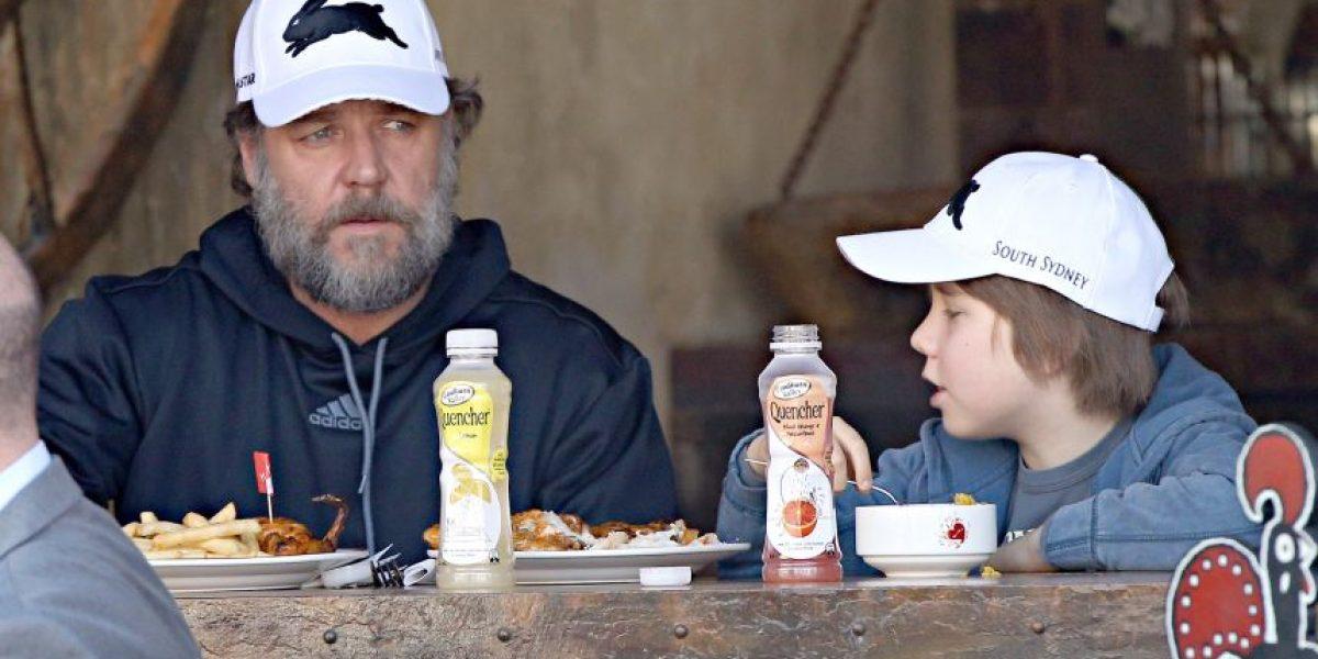 [FOTO] Russell Crowe casi irreconocible con nuevo look