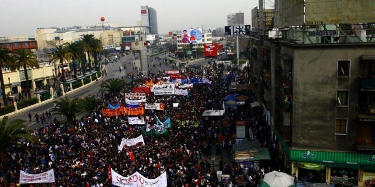 Fotos desde arriba de la marcha de estudiantes por la Alameda