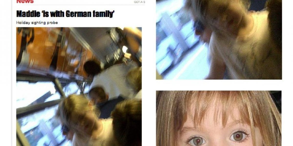 FOTO: Aseguran que captaron a Maddie McCann en un avión rumbo a Munich