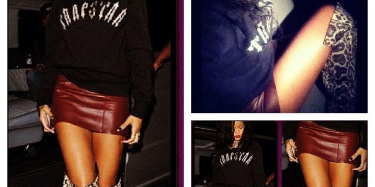 Rihanna vive una de sus noches más alocadas y rompe una mesa