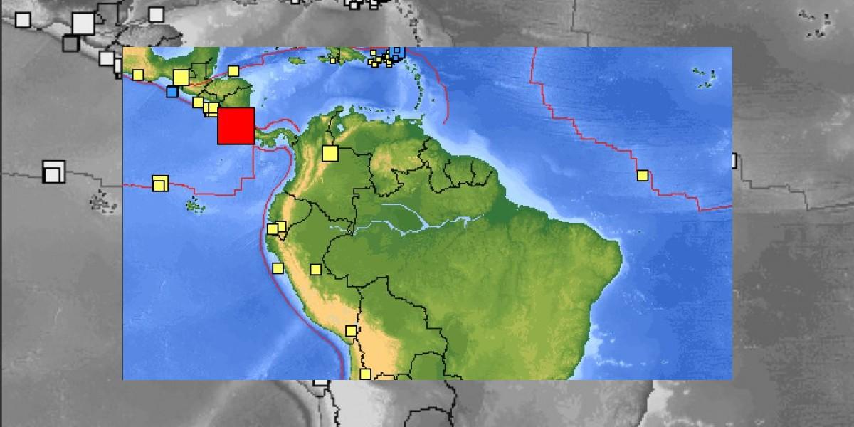Sismo de magnitud 7,6 Richter afecta a Costa Rica