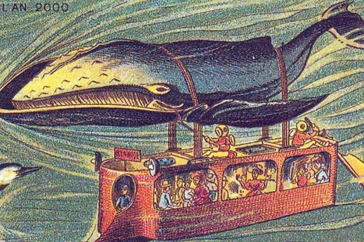 Un submarino llevado por una ballena. Imagen Por: